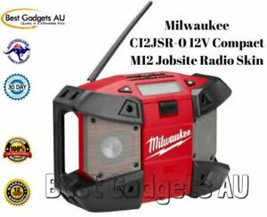 Milwaukee-C12JSR-0-12V-Compact-M12-Jobsite-Radio-Skin-Weather-Proof-Speakers