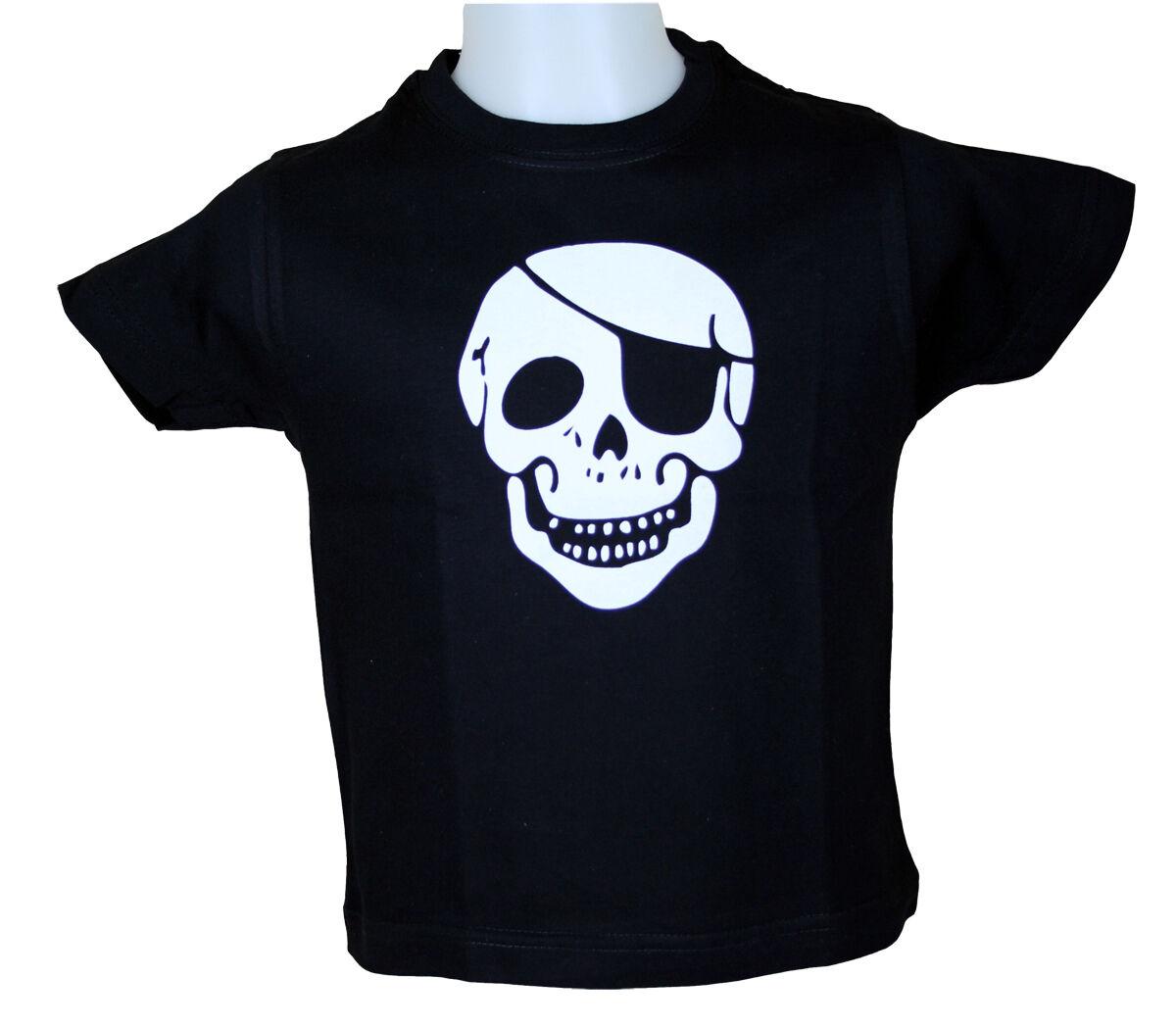 WESTERN-SPEICHER Children T-Shirt Cotton Skull Black Size 86 To 116