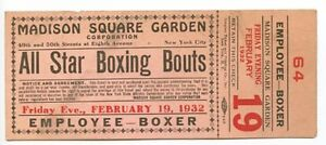 1932 madison square garden all star boxing new york ny