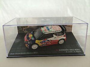 1/43 Ixo Citroen Ds3 Wrc-rallye Mexique-loeb Elena-guanajuato Mexico Rally 2011