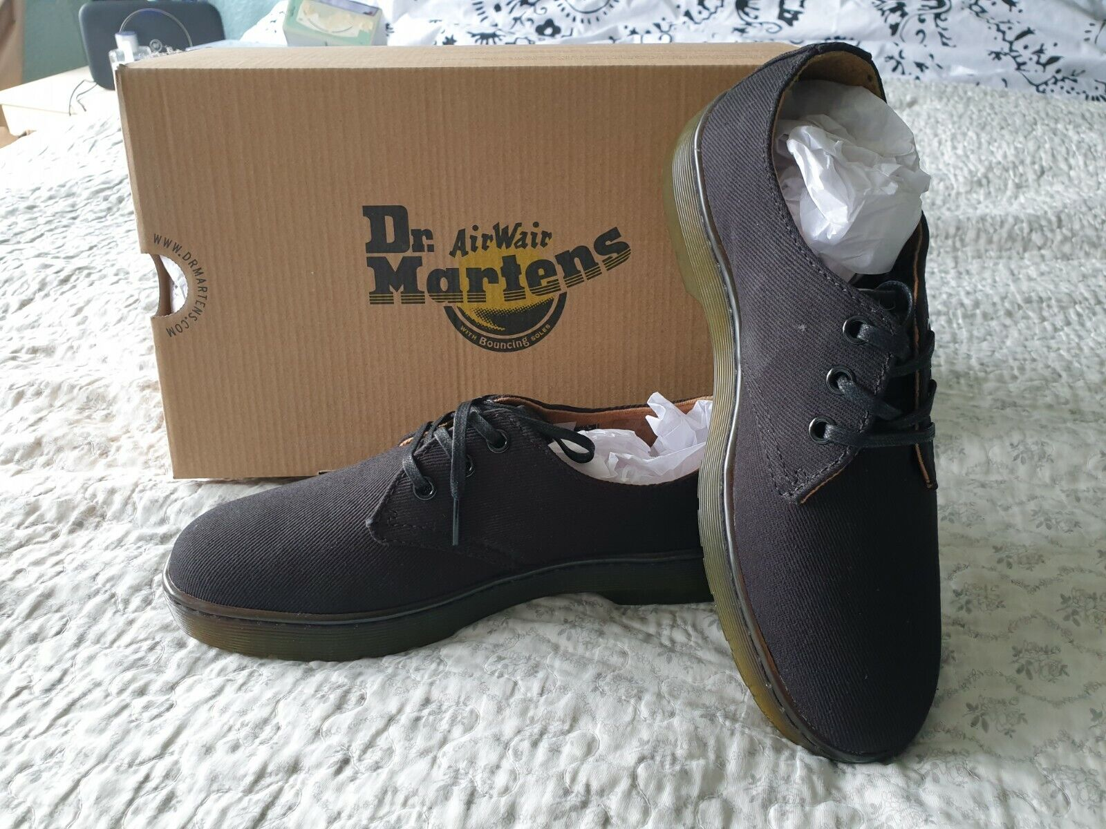 Dr martens Black Delray shoes size 6.5 brand new