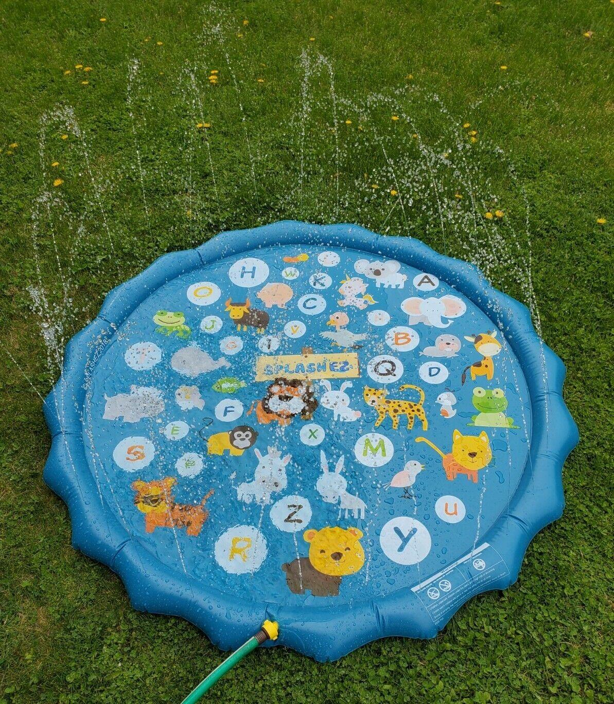 SplashEZ 3-in-1 Sprinkler for Kids and Wading Pool for Learning Splash Pad