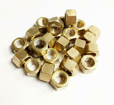 8 x Brass Exhaust Imperial Manifold Nuts 5//16 UNC High Temperature