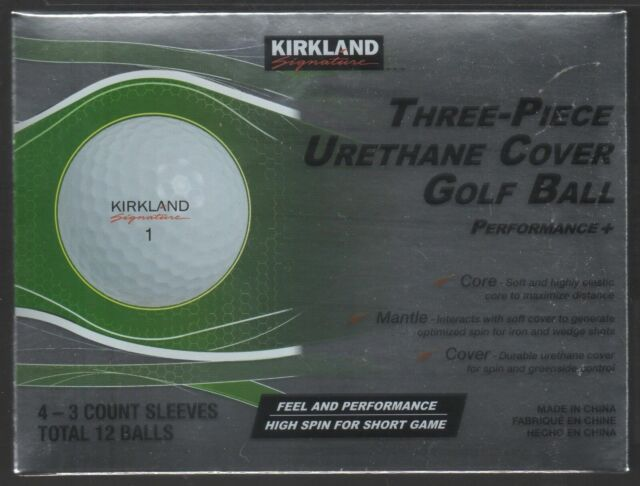 Kirkland Signature Three Piece Urethane Cover Golf Balls Costco 1 Dozen 12