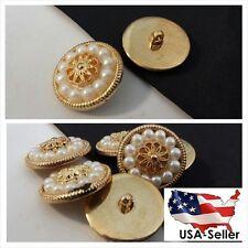 1 dozen of antique golden self shank acrylic button 18 mm US SHIPPER