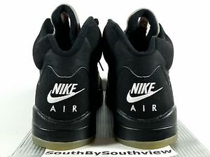 2ae39610490e Nike Air Jordan 5 Black Metallic Silver 2000 Size 12 Retro V 1999 ...