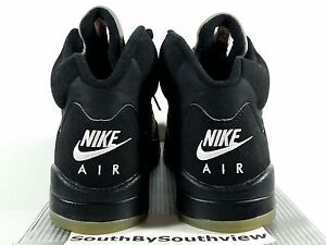 sports shoes 9e1bd ff7b3 Image is loading Nike-Air-Jordan-5-Black-Metallic-Silver-2000-
