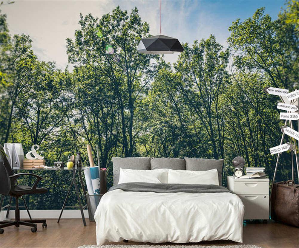 Soft Feeling Trees 3D Full Wall Mural Photo Wallpaper Printing Home Kids Decor