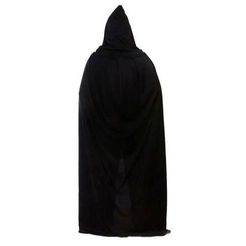 Adult Mens Ladies Hooded Robe Long Cloak Cape Hood Halloween Fancy Costume Dress