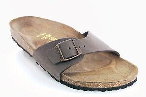 Ciabatta-da-uomo-pelle-Birkenstock-madrid-a-fascia-casual-moda-regolabile