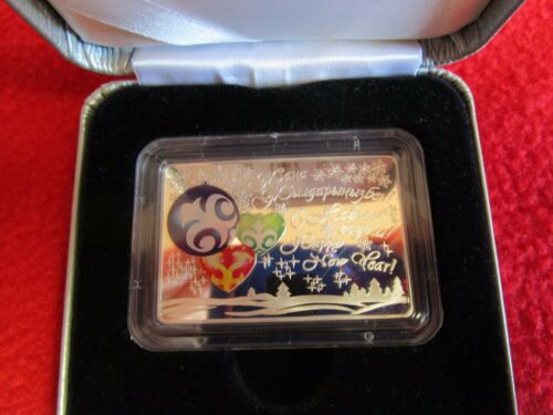 Kazakhstan .925 Silver Coin Proof Uncirculated Middle East happy new year
