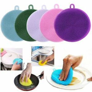 3PC Multifunction Silicone Dish Washing Cleaning Brush Kitchen Home Cleaner Tool