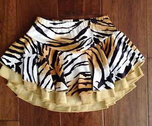 Girls Tiger Ice Figure Skating Dance Skirt by Midge Child Size 5