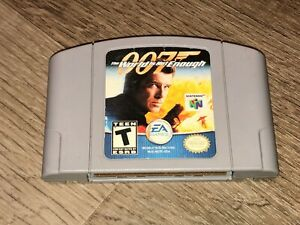 007-The-World-is-Not-Enough-Grey-Cart-Nintendo-64-N64-Cleaned-amp-Tested-Authentic