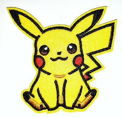 "Pikachu Patch Pokemon Sew Iron On Cloth Applique 2.50/"" X 3.00/"""