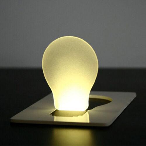 Mini faltbare tragbare Taschenkarte LED Nachtlicht Taschenlampe Lampenwerkzeug b