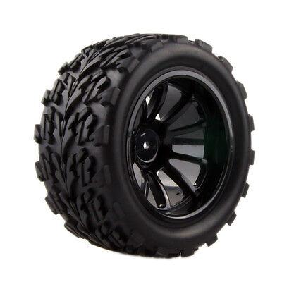 4pcs RC Rubber Sponge Tires Tyre Rim Wheel 1:10 HSP Monster Bigfoot Truck 88030