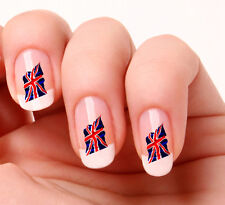20 Nail Art Decals Transfers Stickers #357 - England Flag - Union Jack