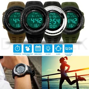 Men-039-s-Digital-Sports-Outdoor-Watch-Military-Army-Waterproof-Fashion-Alarm-LED