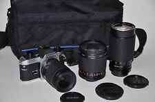 Nikon FG-20 35mm SLR Film Camera STUDENT OUTFIT 3 Lenses + MANY EXTRAS