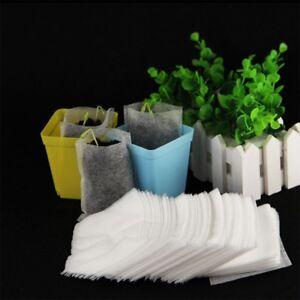 Details About 100x Nursery Pots Plant Fiber Seedling Raising Bags Home Garden Supplies Lots