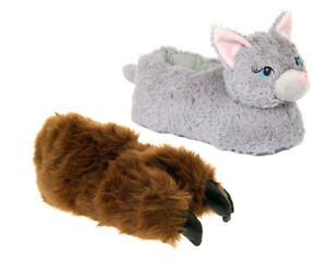 b72ae9ff4ac Image is loading Kids-Novelty-Plush-3D-Animal-Character-Slippers-Boots-
