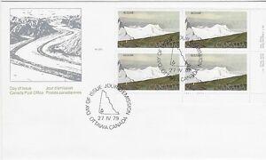 Canada-Post-OFDC-1979-2-00-National-Park-Kluane-LR-Pl-Bl-FDC-Sc-727-CV-24-60
