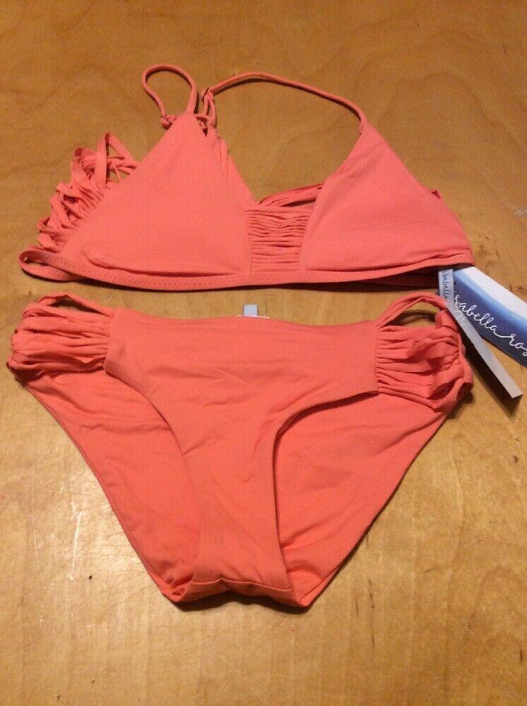 d32b722be51 196 Women's two piece bikini LARGE ISABELLA pink orange. Fabulous Women  Swimwear Biquini Sexy Bikinis Set