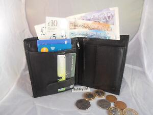 Kleidung & Accessoires Herren-accessoires 90286 Gents Mens Genuine Leather Wallet Note Case Purse Credit Cards Holder