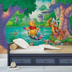 tapete fototapete f rs kinderzimmer pu der b r disney winnie pooh piglet tigger ebay. Black Bedroom Furniture Sets. Home Design Ideas