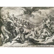 Hendrick GOLTZIUS Jupiter prend conseil des dieux destruction de l'univers 1589