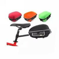Bicycle Frame Hard Shell Pack Saddle Rear Bag W/ Rain Cover +bike Rack 3-color