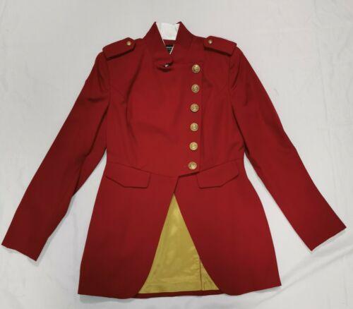 J. Peterman Company Womens Red Military Equestrian