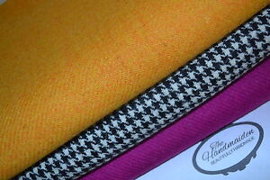 HARRIS-TWEED-amp-LABELS-ALL-SIZES-bundles-wool-craft-quilting-patchwork-yellow