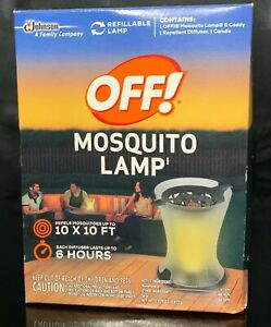 OFF! Mosquito Lamp Outdoor Repellent Candle with Diffuser ...