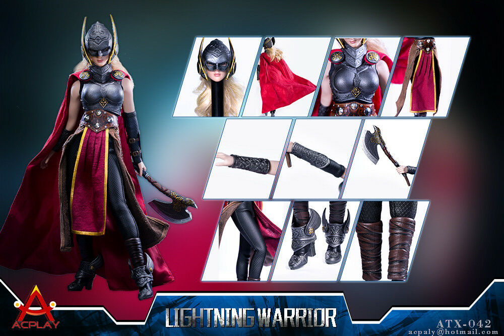 ACPLAY 1  6 ATX042 Lightning Female Warrior Set With Head autoving No corpo Gifts  l'intera rete più bassa
