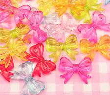 25 X Colorido Lolita Joyería Bricolaje para Niños Niños Arco Perlas Craft Supplies