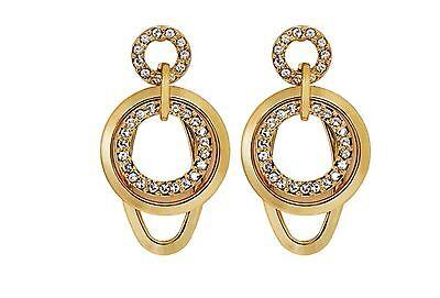 DSE 5122357 Geometric Cricles Long Earring Swarovski crystal / gold-plated MIB