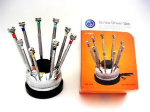 9pc Screwdriver set Rotating Stand Watchmaker Jewelry repair Hobby tool USA ship