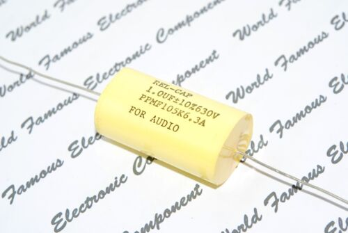 PPMF105K6.3A FOR AUDIO 630V 10/% Axial Capacitor 1µF REL-CAP PPMF 1uF 1pcs