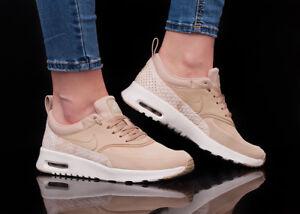meilleur service 37303 6062e Détails sur NIKE AIR MAX THEA PRM 616723-203 chaussures femmes sport loisir  beige sneaker