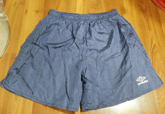 Umbro Blue Nylon Mens Shorts Size Large No Liner
