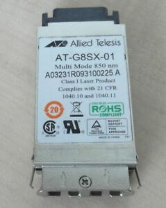 Allied Telesis At-g8sx Gbic Gigabit Interface Convertisseur 1000 Mbit/s 850 Presque Comme Neuf-afficher Le Titre D'origine