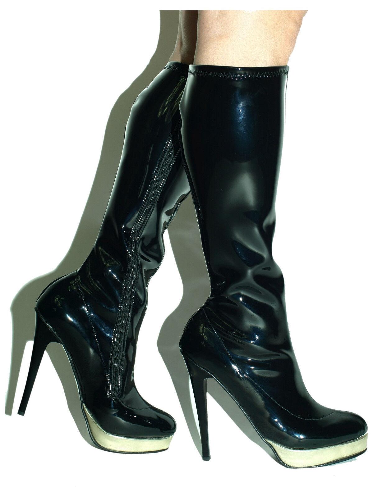 High heels, stiefel Lack Stretch  -Größe 37-47 producer -Polen Bolingier