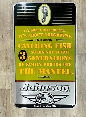 Johnson Outboard Motor Sign