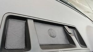 BLACK-Leather-BLACK-stitch-COINtray-inserts-VW-T5-1-TRANSPORTER-09-039-onward