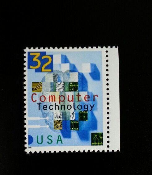 1996 32c Computer Technology Scott 3106 Mint F/VF NH