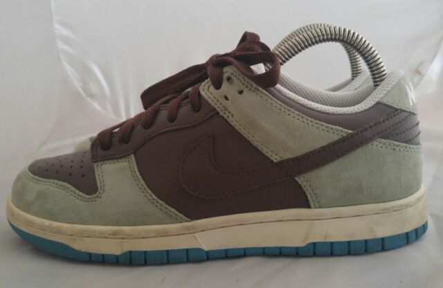 finest selection d822e f7548 Womens Nike Dunk Low CL Skateboard Shoes Size 7 Color Chocolate Aqua Gray  Blue