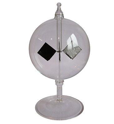 Lichtmühle Solar Radiometer stehend kurzer Fuß 80 mm Klar Blau ES
