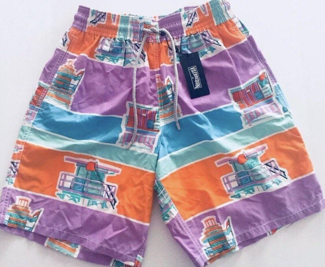 New wTags Authentic Vilebrequin OKOA Swim Trunks Men - Multicolor - XXXL - 3XL
